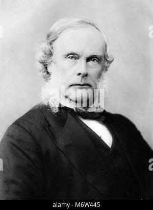 Sir Joseph Lister (1827-1912). Portrait of the British surgeon dating from 1909. - Stock Photo