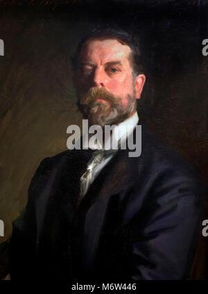 John Singer Sargent (1856-1925), self -portrait, oil on canvas, 1906 - Stock Photo