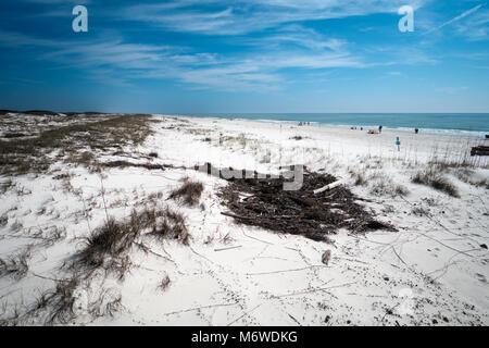 The beach at Bon Secour National Wildlife Refuge in Baldwin County near Gulf Shores, Alabama. - Stock Photo