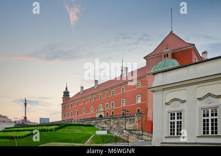 Royal Castle in Warsaw, view on south facade. Warsaw, Masovia province, Poland, Europe. - Stock Photo