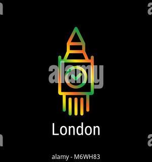 London, Great Britain Vector Line Icon - Stock Photo