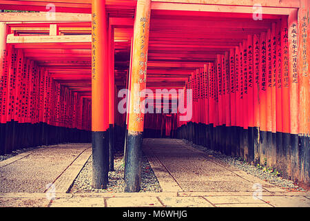 fushimi inari shrine, japan - Stock Photo