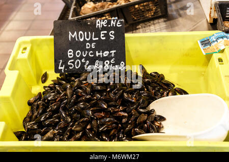 Fish Market, Saint-Martin-de-Re, Nouvelle Aquitaine, France - Stock Photo