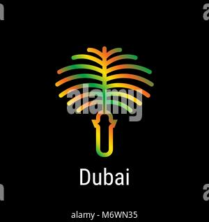 Dubai, United Arab Emirates Vector Line Icon - Stock Photo