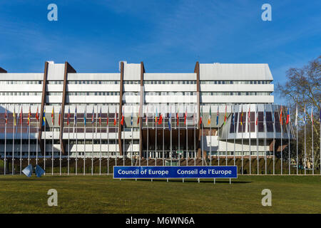 Building of the Council of Europe Headquarters located in Strasbourg, France. - Stock Photo