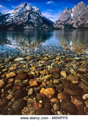 Jenny Lake, Cascade Canyon, Grand Teton National Park, Wyoming - Stock Photo