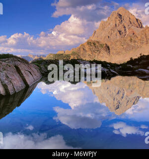 The Grand Teton, from Schoolroom Glacier area, Grand Teton National Park, Wyoming - Stock Photo