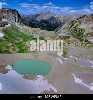 Schoolroom Glacier, Cascade Canyon, Grand Teton National Park, Wyoming - Stock Photo