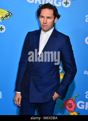 Los Angeles, California, USA. 6th March, 2018. Nash Edgerton   attends the world premiere of 'Gringo' from Amazon Studios and STX Films at Regal LA Live Stadium 14 on March 6, 2018 in Los Angeles, California Credit: Tsuni / USA/Alamy Live News Stock Photo