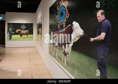 London, UK. 7th March, 2018. An installation called Sire, by Maria McKinney, from the Somewhere in Between exhibition, - Stock Photo