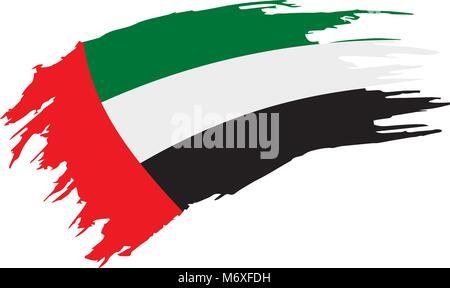 United Arab Emirates flag, vector illustration - Stock Photo
