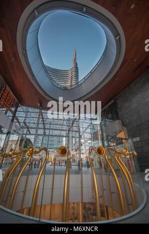 Piazza Gae Aulenti in Milan - Stock Photo