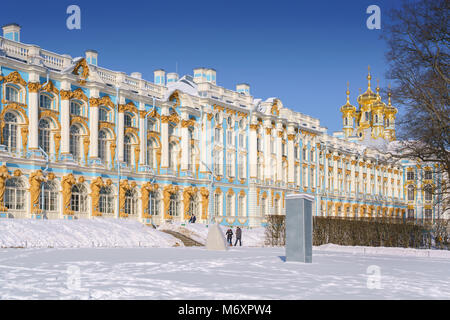 The Catherine Palace, Tsarskoye Selo, Pushkin, Saint-Petersburg, Russia - Stock Photo
