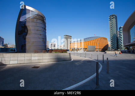 Modern Buildings in Milan, Italy - Stock Photo