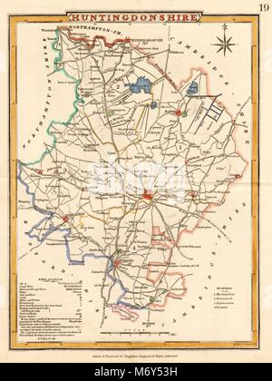 Helpful Antique County Map Of Huntingdonshire By John Cary Maps, Atlases & Globes Kimbolton St Neots 1793