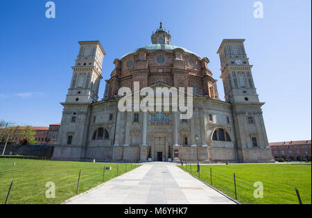 VICOFORTE, ITALY APRIL 11, 2017 - Vicoforte Sanctuary, Cuneo province, Piemonte, Italy, the largest elliptical dome - Stock Photo