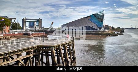 England, East Riding of Yorkshire, Kingston upon Hull city, the Deep aquarium along the Humber river - Stock Photo