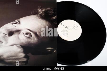 New Order Low-Life vinyl LP record - Stock Photo