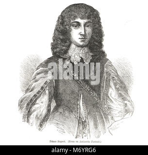 Prince Rupert of the Rhine, 1619–1682,   Cavalier cavalry commander during the English Civil War - Stock Photo