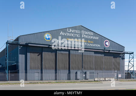 United States Antartica Programe hangar, Orchard Road, Harewood, Christchurch, Canterbury, New Zealand - Stock Photo