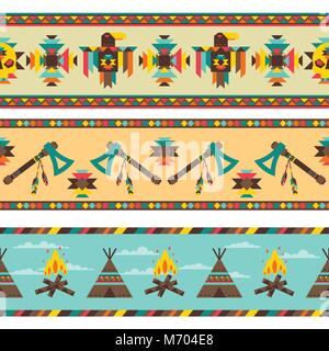 Ethnic seamless pattern in native style - Stock Photo