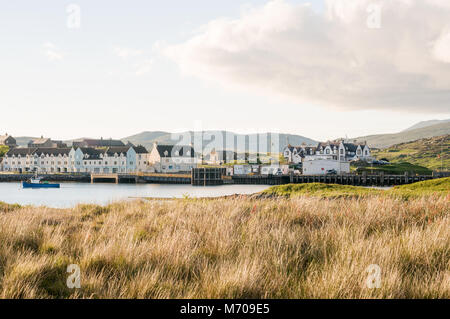 Lochboisdale South Uist Ferry Terminal, Isle of South Uist, Outer Hebrides, Scotland, UK - Stock Photo