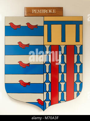 CAMBRIDGE, ENGLAND, UK - DECEMBER 03 2011 - Coat of Arms of Pembroke College, Cambridge University - Stock Photo
