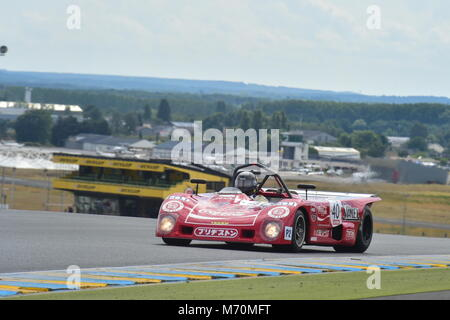 Carlos Barbot, Lola T280-HU3 DFV, Le Mans Classic 2014, 2014, circuit racing, Classic, classic cars, Classic Racing - Stock Photo