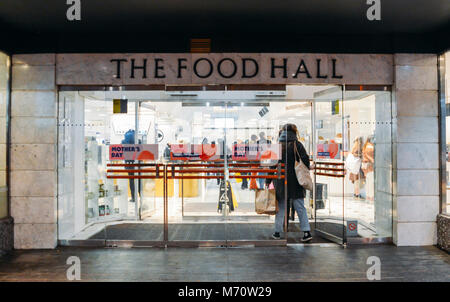 Food Hall entrance to Selfridges Department Store in Oxford Street, London, UK - Stock Photo