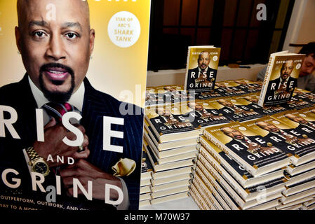 Daymond John signs copies of his new book 'Rise and Grind: Outperform, Outwork, and Outhustle Your Way to a More - Stock Photo