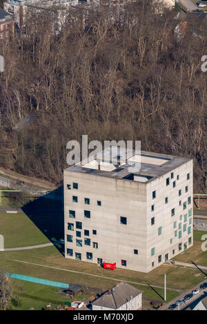 Folkwang University of the Arts, - SANAA building, at the World Cultural Heritage Zeche Zollverein, in Essen, North - Stock Photo