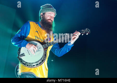 Madison, Wisconsin, USA. 6th Mar, 2018. Judah and the Lion during the Going to Mars tour at the Orpheum Theater - Stock Photo