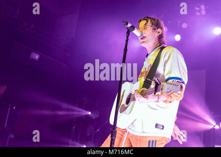 Madison, Wisconsin, USA. 6th Mar, 2018. JUDAH AKERS of Judah and the Lion during the Going to Mars tour at the Orpheum - Stock Photo