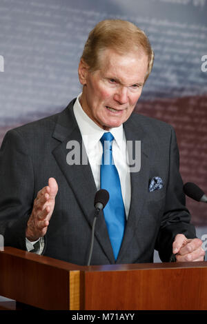United States Senator Bill Nelson, Democrat of Florida, speaks during a press conference to introduce new gun violence prevention legislation. Credit: Alex Edelman/CNP /MediaPunch