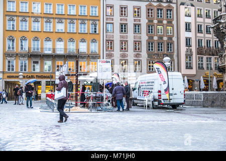 MUNICH / GERMANY - FEBRUARY 15 2018: PEGIDA is demonstrating in the city. - Stock Photo