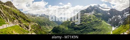 Alps from Sustenpass in Switzerland - Stock Photo