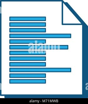 Document page icon over white background, blue shading design. vector illustration - Stock Photo