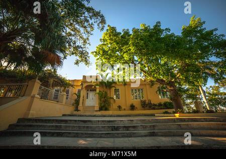Exterior of Finca Vigía, Ernest Hemingway's house in Havana, Cuba - Stock Photo
