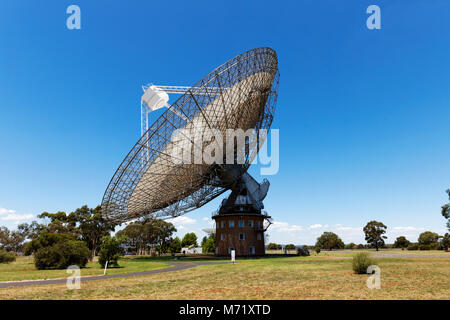 Parkes Radio Telescope brought live pictures to  television when man 1st landed on the moon in Apollo 11 on 21 July - Stock Photo