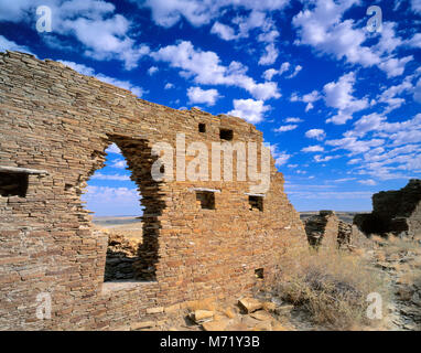 Ruins, Penasco Blanco, Chaco Culture National Historical Park, New Mexico - Stock Photo
