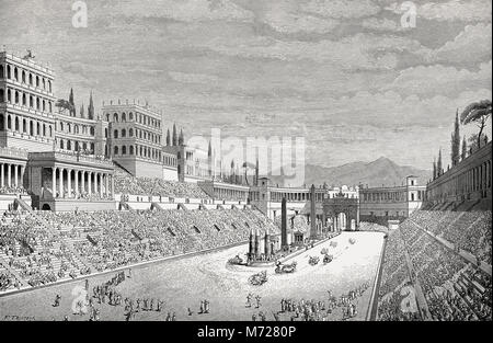 Reconstruction of the Mausoleum Circus Maximus in ancient Rome - Stock Photo