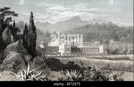 Reconstruction of a villa of Pliny the Younger, Ancient Rome - Stock Photo
