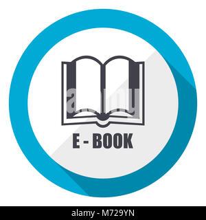 Book blue flat design web icon - Stock Photo
