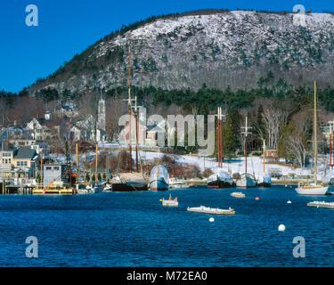 Winter Harbor, Camden, Maine - Stock Photo