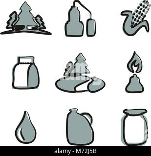 Moonshine Icons Freehand 2 Color - Stock Photo