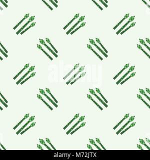 Seamless background image colorful vegetable food ingredient asparagus - Stock Photo