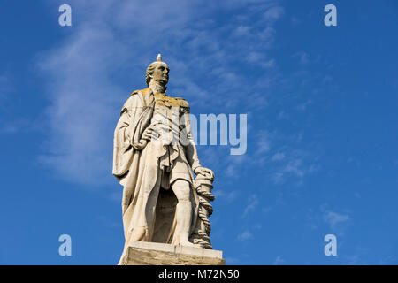 Monument to Admiral Lord Collingwood who served in the Royal Navy with Nelson and saw action on the 'Royal Sovereign' - Stock Photo