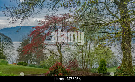 View From Ambleside Over Lake Windemere - Stock Photo