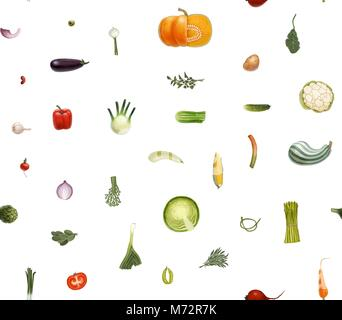 Vegetables small signs - Stock Photo