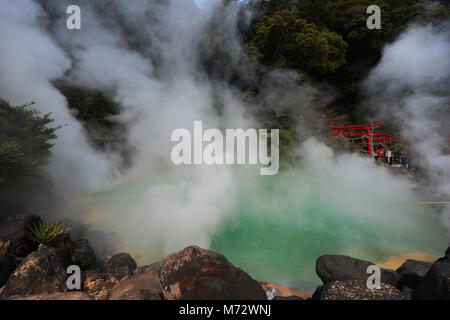 Umi Jigoku ( Ocean Hell ) hot spring in Beppu, Japan. - Stock Photo